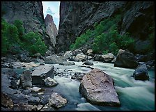 Gunisson river near  Narrows. Black Canyon of the Gunnison National Park ( color)