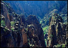 Spires and canyon walls. Black Canyon of the Gunnison National Park ( color)