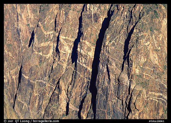 Detail of the Painted wall. Black Canyon of the Gunnison National Park (color)