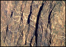 Detail of Painted wall. Black Canyon of the Gunnison National Park, Colorado, USA. (color)