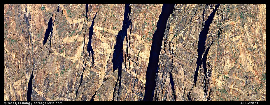 Crystalline marbled walls. Black Canyon of the Gunnison National Park (color)