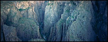Startling depths and narrow opening. Black Canyon of the Gunnison National Park (Panoramic color)