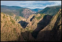 Canyon view from Tomichi Point. Black Canyon of the Gunnison National Park ( color)
