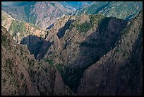 Canyon buttres from Tomichi Point. Black Canyon of the Gunnison National Park ( color)