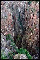 Narrow gorge. Black Canyon of the Gunnison National Park ( color)