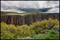Canyon and storm clouds, Gunnison Point. Black Canyon of the Gunnison National Park ( color)