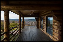 Visitor center porch. Black Canyon of the Gunnison National Park ( color)