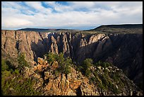 Wide view from Gunnison point. Black Canyon of the Gunnison National Park ( color)
