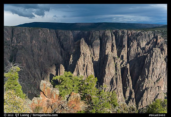 Approaching storm from Gunnison point. Black Canyon of the Gunnison National Park (color)