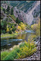 Gunnison river in autumn, East Portal. Black Canyon of the Gunnison National Park ( color)