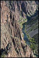 Cliffs and river in autumn. Black Canyon of the Gunnison National Park ( color)