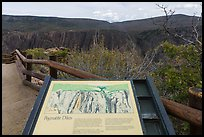 Interpretive sign. Black Canyon of the Gunnison National Park ( color)