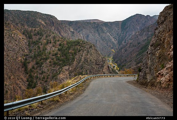 East Portal Road. Black Canyon of the Gunnison National Park (color)