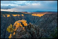 Warner Point, late afternoon. Black Canyon of the Gunnison National Park ( color)