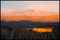 Last sunrays on rim. Black Canyon of the Gunnison National Park ( color)