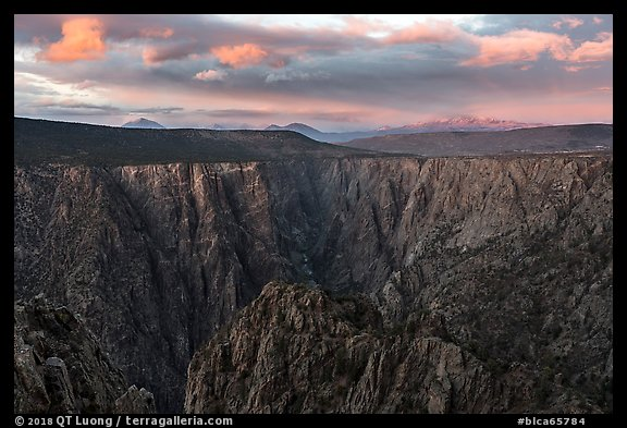 Warner Point, sunset. Black Canyon of the Gunnison National Park (color)