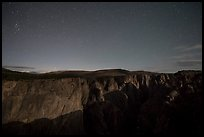 Chasm view at night. Black Canyon of the Gunnison National Park ( color)