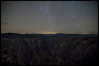 Warner Point, night. Black Canyon of the Gunnison National Park ( color)