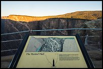Painted Wall interpretive sign. Black Canyon of the Gunnison National Park ( color)