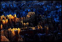 Light and shadows, from Sunset Point, late afternoon. Bryce Canyon National Park ( color)