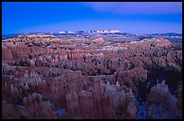 Bryce Amphitheater from Sunset Point, dusk. Bryce Canyon National Park, Utah, USA.