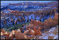 Hoodoos and blue snow from Inspiration Point. Bryce Canyon National Park ( color)