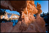 Water Canyon from hoodoo window. Bryce Canyon National Park ( color)