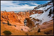 Natural Bridge in winter. Bryce Canyon National Park ( color)