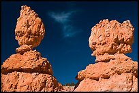 Lumpy and bulging profiles of hooodos. Bryce Canyon National Park ( color)