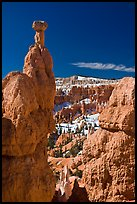 Hoodoos capped by dolomite rocks and amphitheater. Bryce Canyon National Park ( color)