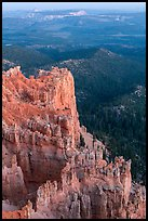 Rock formations and forest near Yovimpa Point. Bryce Canyon National Park ( color)