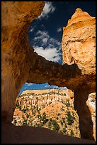 Tower Bridge framing mesa with hoodoos. Bryce Canyon National Park ( color)