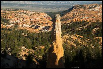 Monolithic hoodoo and amphitheater. Bryce Canyon National Park ( color)