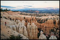 Visitor looking, near Fairyland Point. Bryce Canyon National Park ( color)