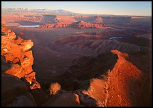 Dead Horse point at sunset. Canyonlands National Park, Utah, USA.