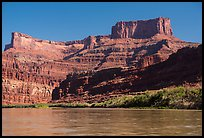 Dead Horse point seen from Colorado River. Canyonlands National Park ( color)