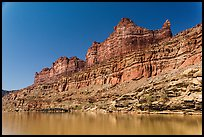 Multicolored cliffs and Colorado River. Canyonlands National Park ( color)