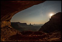False Kiva, moon, and stars. Canyonlands National Park ( color)