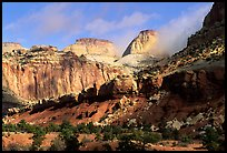 Golden Throne and Waterpocket Fold. Capitol Reef National Park ( color)