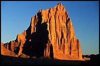 Temple of the Sun, sunrise, Cathedral Valley. Capitol Reef National Park, Utah, USA.