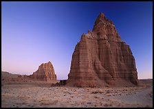 Temples of the Sun and Moon, dawn. Capitol Reef National Park ( color)