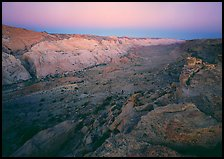 Waterpocket Fold from Halls Creek overlook, dawn. Capitol Reef National Park, Utah, USA.