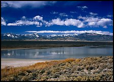 Sagebrush, lake, and Snake Range. Great Basin National Park ( color)