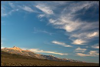 Wispy clouds over Snake Range. Great Basin National Park ( color)