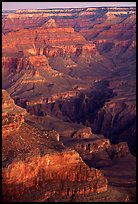 Temples at Dawn from Yvapai Point. Grand Canyon National Park, Arizona, USA.