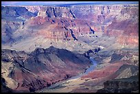 Colorado River from  South Rim. Grand Canyon National Park, Arizona, USA. (color)