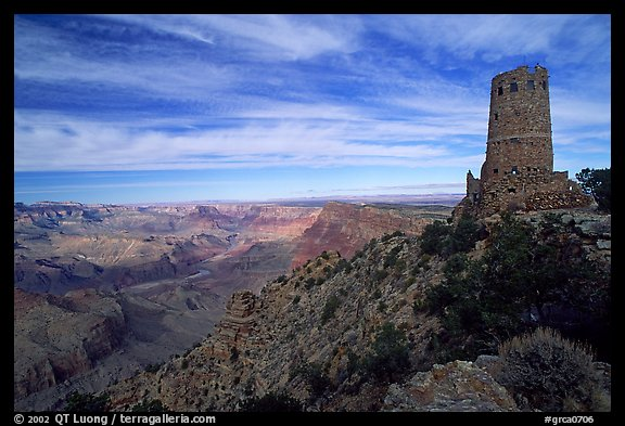 Watchtower, late afternoon. Grand Canyon National Park (color)