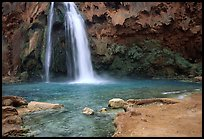 Travertine Terraces, Havasu Falls, Havasu Canyon. Grand Canyon National Park ( color)
