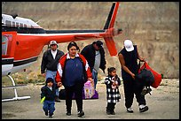 Havasu Indians commute by helicopter to roadless village. Grand Canyon National Park, Arizona, USA.