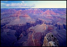 Granite Gorge seen from  South Rim, twilight. Grand Canyon National Park ( color)